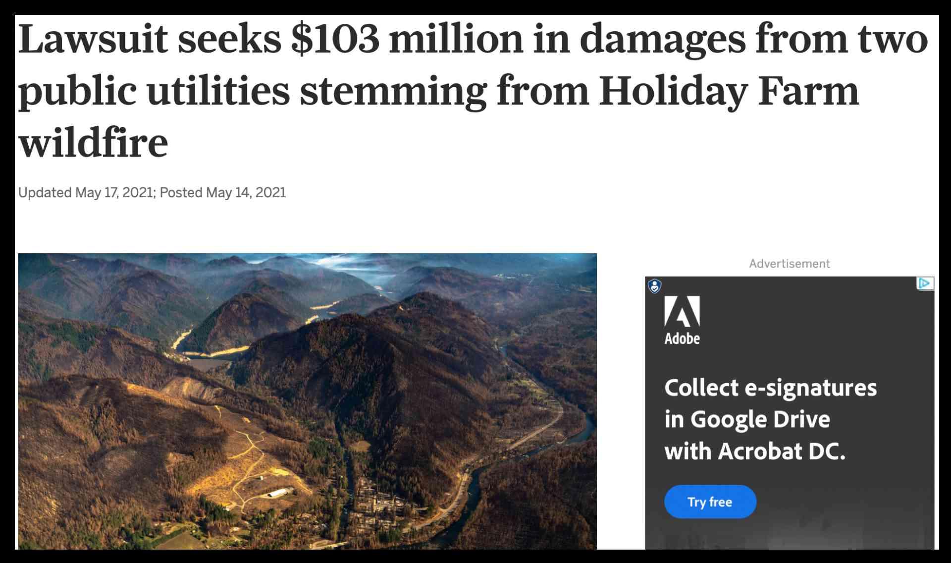 Lawsuit $103 Million Dollars